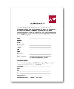 Antrag auf Mitgliedschaft